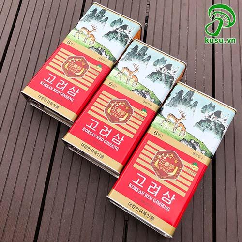 Hồng Sâm Khô Hàn Quốc Jeong Nong Hộp 300gr - 7 Củ